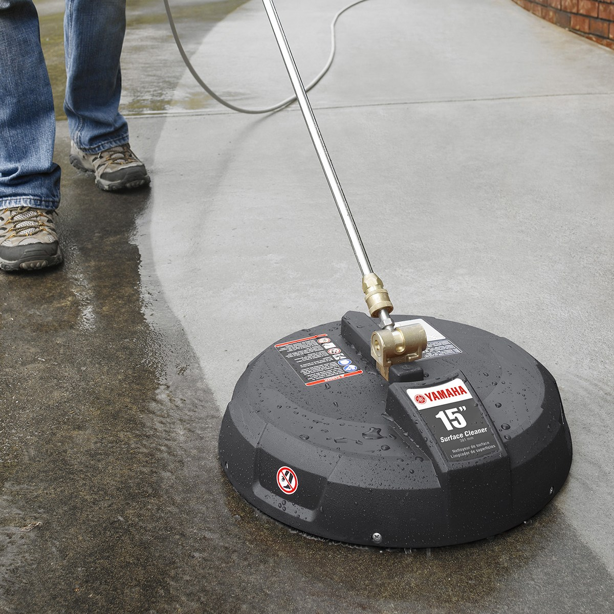 Pressure washer floor scrubber gurus floor for Pressure washer driveway cleaner
